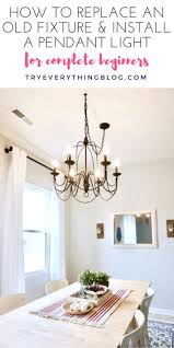 Installing Pendant Light Fixture How To Install A Pendant Light Fixture And Swag It Swag Light