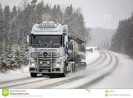 mercedes actros mercedes actros tank truck pushes forward in winter weather