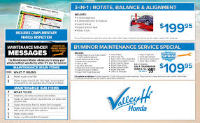 nissan rogue maintenance other service department special offers at valley hi honda