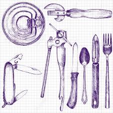 econome ustensile de cuisine ensemble de différent ustensile de cuisine cuillère fourchette