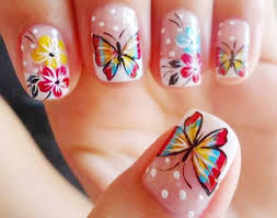 46 best butterfly nail art images on pinterest butterfly nail