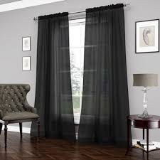 Allen Roth Drapes Black Sheer Curtains Buy Black Sheer Curtains From Bed Bath Beyond