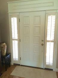 Sidelight Panel Blinds Front Door Sidelight Blinds In X In 4 Panel Primed White Right