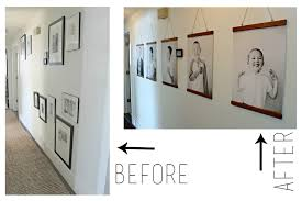 hang poster without frame diy hanging wood frames