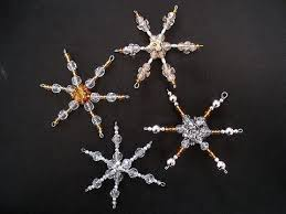 beaded ornament how to diy ornament snowflake