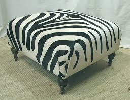Zebra Chair And Ottoman Furniture Small Square Zebra Ottoman And Zebra Coffee Table