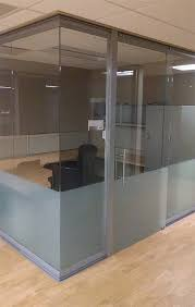 frameless glass sliding doors view glass office wall system