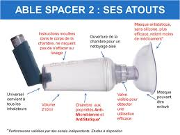 chambre inhalation ventoline able spacer 2 avec masque nourrisson mediflux