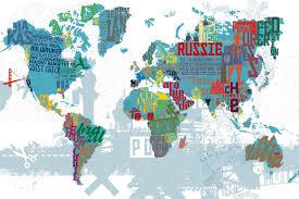carte monde noir et blanc carte du monde géante mappemonde ou planisphère déco scenolia
