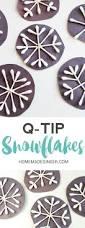 q tip snowflake craft homemade ginger