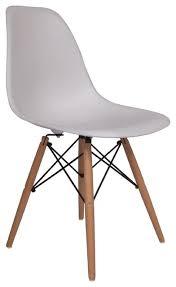 molded plastic side chair wood leg base white shell by lemoderno