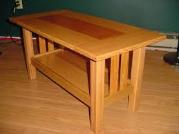 Red Oak Table by Red Oak And Mahogany Craftsman Style Coffee Table By Kram79