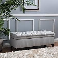 grey storage bench ottoman storage decorations