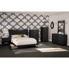 White Queen Platform Bed With Storage South Shore Step One 2 Drawer Full Queen Size Platform Bed In Pure