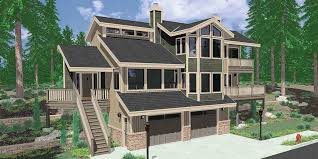 house plans with porches on front and back daylight basement house plans floor plans for sloping lots