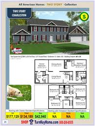 4 Bedroom Modular Home Prices by Charleston All American Two Story Modular Home Two Story