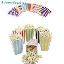 popcorn favor bags 6pcs lot colorful paper popcorn boxes popcorn favor bags for candy