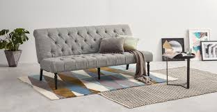 slipper sofa bed grey linen mix made com