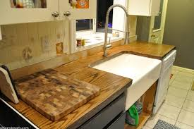 How To Decorate A Kitchen Counter by Artisan Des Arts Diy Wood Door Butcher Block Countertops Under