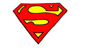 printable superman logo template free superhero coloring pages