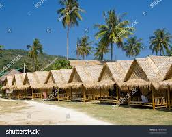 row bungalows on tropical resort krabi stock photo 28189750