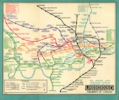 London Metro Map by Beck U0027s Representation Of London U0027s Underground System Map Or Diagram