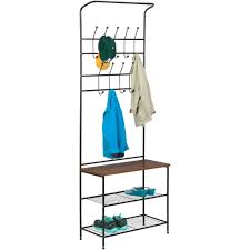 Honey Can Do 60 Double Door Storage Closet by Honey Can Do Entryway Storage Valet With Coat Hanger And Shelves