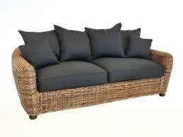 canape rotin canapé en rotin teinté avec coussin d assise