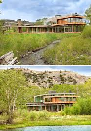 this riverside house lives among the hills of montana contemporist