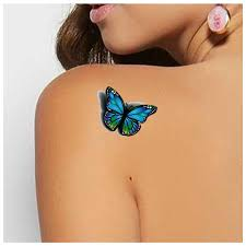3d butterfly design temporary stickers