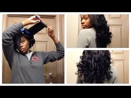 how to salvage flexi rod hairstyles tutorial easy flexi rod set on weave youtube my beautiful