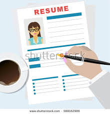 Resume Writing Business Resume Writing Concept Man Writing Business Stock Vector 588162986