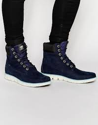 timberland bradstreet 6 inch boots in blue for men lyst