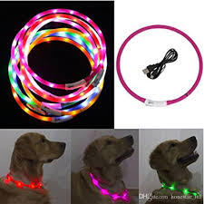 Discount Usb Luminous Led Dog Collar Flashing Night Light Charging