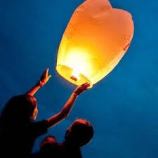 candle balloon paper lantern hot air sky flyer candle l wish balloon