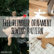 free felt reindeer ornament or softie pattern swoodson says