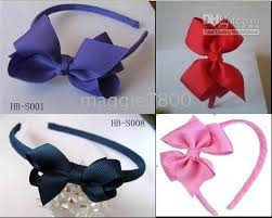headbands with bows baby girl grosgrain ribbon covered headband with hair bow hairbows