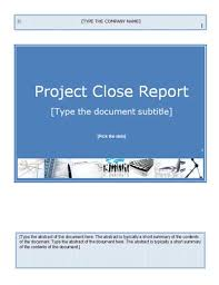 closure report template project closure templates project news today