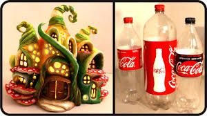 diy enchanted fairy house lamp using coke plastic bottles