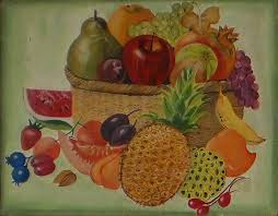 Basket Of Fruit Basket Of Fruits Painting By Sonal Agrawal