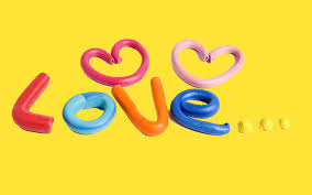 cute art love yellow background wallpaper desk 6165 wallpaper