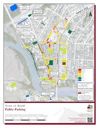 Banff National Park Map Banff Ab Official Website Parking