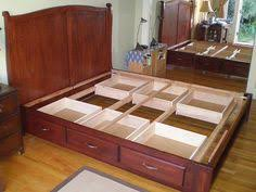 Build Platform Bed With Storage Underneath by Diy Bed Frame With Storage Under Bed Storage Stuff To Make