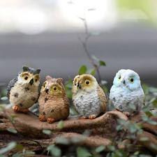 plastic resin owl garden statues lawn ornaments ebay
