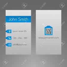 business card template light grey and blue design minimalistic
