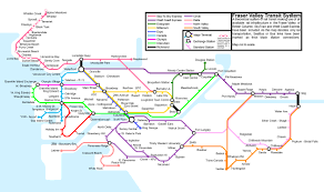 vancouver skytrain map map of possible vancouver lower mainland rail transit system if