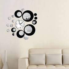 mirror decals home decor full image for fashion circles mirror