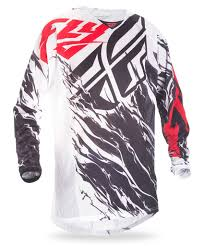 fly motocross jersey 2017 5 kinetic mesh relapse black white red jersey fly racing