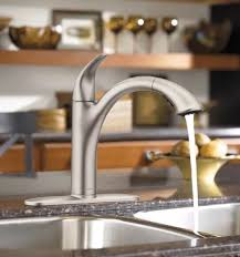 stainless steel kitchen faucet moen 7545srs camerist one handle low arc pullout kitchen faucet