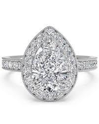 cushion cut diamond engagement rings pear cut diamond engagement rings martha stewart weddings